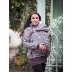La Tulia babywearing jacket - Birds on brown