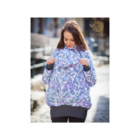 La Tulia babywearing jacket - Blue Garden