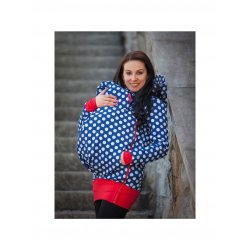 La Tulia babywearing jacket - Blue dots and red