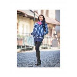 La Tulia babywearing jacket - Blue dots