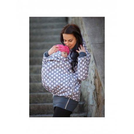 La Tulia babywearing jacket - Grey dots