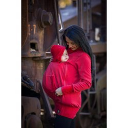 La Tulia babywearing sweatshirt - red