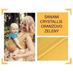 Aloe babycarrier - TWO - ŠaNaMi - Crystallis - orange - green