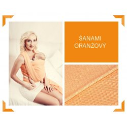 Aloe babycarrier - TWO - ŠaNaMi - Crystallis orange