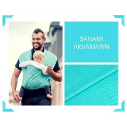 Aloe babycarrier - ONE - ŠaNaMi Aquamarine