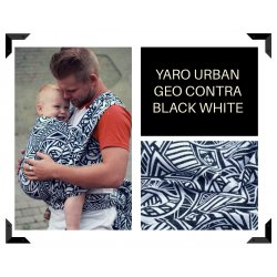 Aloe babycarrier - ONE - Yaro Urban Geo Contra Black White