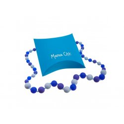 Silicone beads Mama Chic - royal blue - light blue