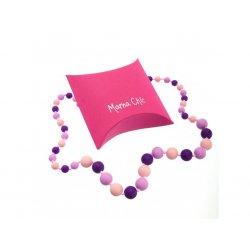 Silicone beads Mama Chic - purple - lilla - pastel pink
