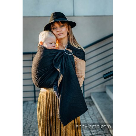 LennyLamb ring sling Luxury Peacock´s Tail - Pitch Black