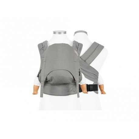 Fidella FlyClick Halbfbuckle babycarrier Chevron - Light Gray