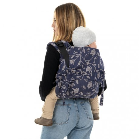 Fidella Onbuhimo V2 back carrier - Floral Touch - eclipse blue