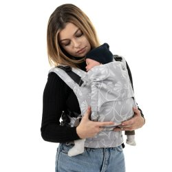 Fidella Fusion babycarrier with buckles - Floral Touch - lunar grey
