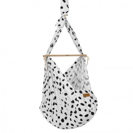 NONOMO® SWINGING HAMMOCK-SET BABY CLASSIC WITH POLYESTER MATTRESS AND CEILING FIXTURE- Wild-Dots