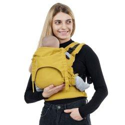 Fidella Fusion babycarrier with buckles - Chevron - mustard