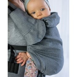 MoniLu ergonomic babycarrier UNI START Simply Grey