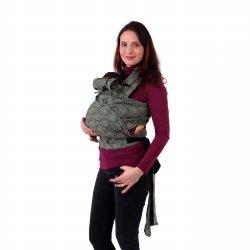 Jozanek newborn adjustable babycarrier Aneta - green spirals