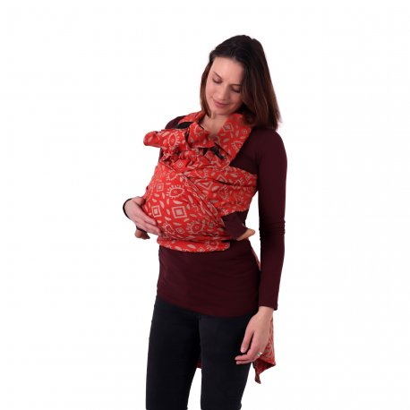Jozanek newborn adjustable babycarrier Aneta - brick red eye