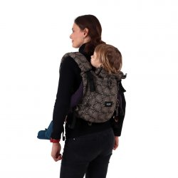 Jozanek newborn adjustable babycarrier Jonas New - black spirals