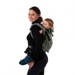 Jozanek newborn adjustable babycarrier Jonas New - green spirals
