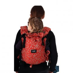 Jozanek newborn adjustable babycarrier Jonas New - red brick eye