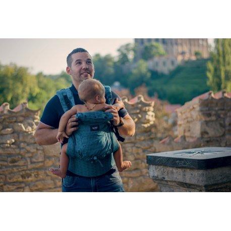 Jozanek newborn adjustable babycarrier Dan - emerald