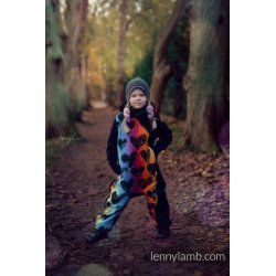 LennyLamb Bear Romper Black & Lovka Rainbow Dark