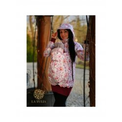 La Tulia babywearing jacket - Bordeaux aquarelle