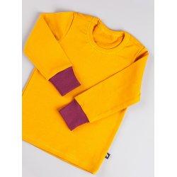 DuoMamas childern T-shirt - long sleeved - merino - honey
