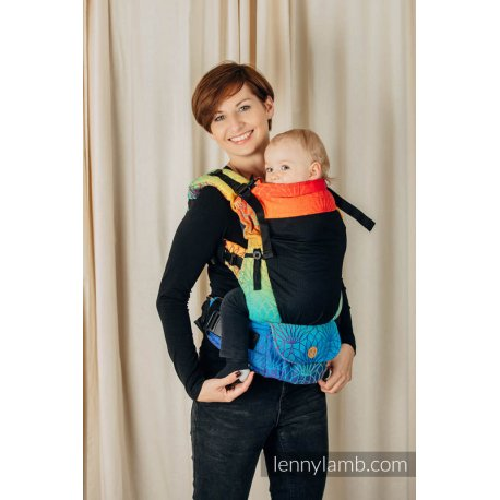 LennyLamb LennyUpGrade Mesh adjustable ergonomic carrier - Rainbow Lotus