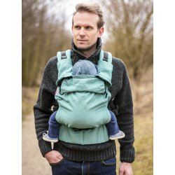 MoniLu ergonomic babycarrier UNI START Simply Green