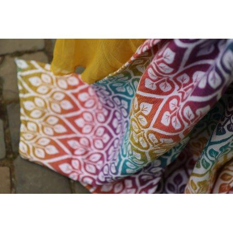 Yaro Ring sling La Vita Trinity Caribbean Rainbow Tencel Linen