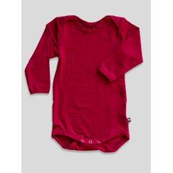 DuoMamas childern bodysuit - long sleeves - red wine