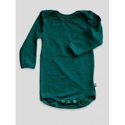 DuoMamas childern bodysuit - long sleeves - dark green
