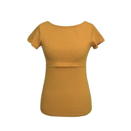 Angel Wings T-shirt for breastfeeding - short sleeved - mustard