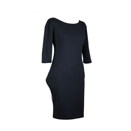Angel Wings Dress with pockets - black