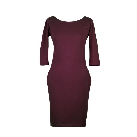 Angel Wings Dress with pockets - bordeaux