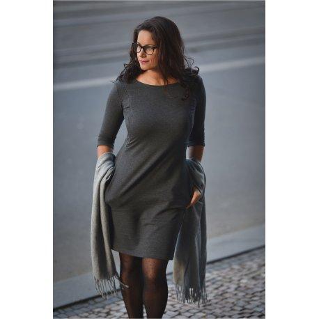 Angel Wings Dress with pockets - grey melange
