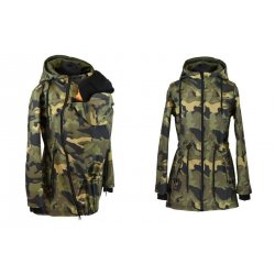 Shara babywearing coat - spring/autumn - Petrol and crazy triangles