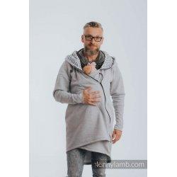 LennyLamb Asymmetrical Babywearing Sweatshirt Grey melange and Pearl