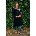 LennyLamb Asymmetrical Babywearing Sweatshirt Black with Rainbow Lotus