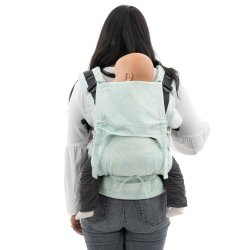 Fidella Fusion babycarrier with buckles - Dancing Leaves - blue lagoon