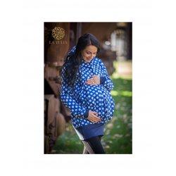 La Tulia babywearing jacket 3in1- Blue dots