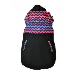 Shara babywearing cover - softshell (spring/autumn)- deer/black
