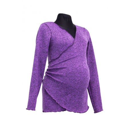 Angel Wings Wrap Sweatshirt violet