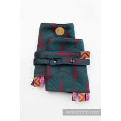 LennyLamb Drool Pads and Reach Straps Set Deco - Maroon Moss