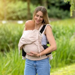 Fidella Fusion babycarrier with buckles - Leopard - rosé