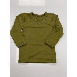 DuoMamas childern T-shirt - long sleeved - khaki