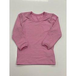 DuoMamas childern T-shirt - long sleeved - rose