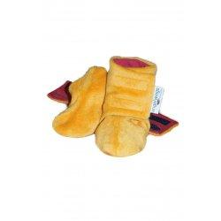 Angel Wings Fluffy Shoes - mustard-black