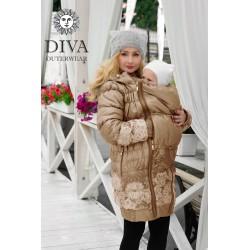 Diva Milano babywearing winter coat 3 in 1 Moka